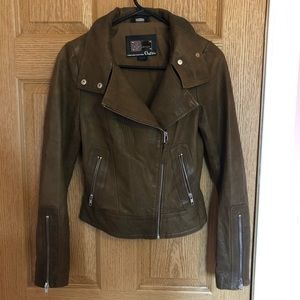 Brown Leather Mackage for Aritzia Jacket